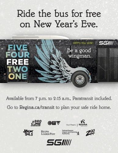 Ride the bus for free on New Years Eve
