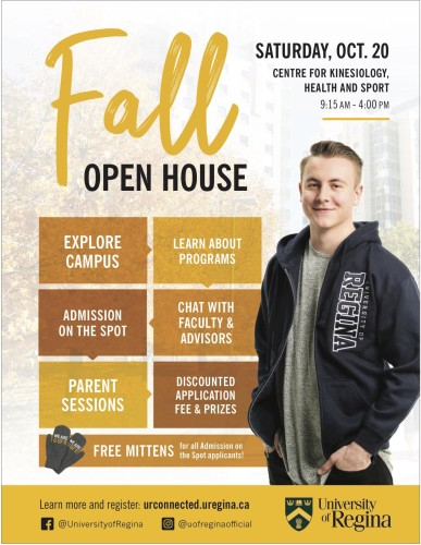 University of Regina Fall OPEN HOUSE