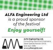 ALFA Engineering Ltd is a proud sponsor of the festival