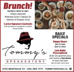 Brunch and Daily Specials at Tommys Speakeatery