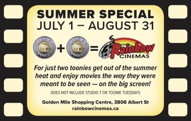 Rainbow Cinemas SUMMER SPECIAL
