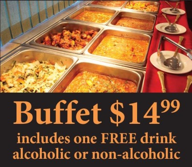 Buffet at Bay Leaves Indian Restaurant