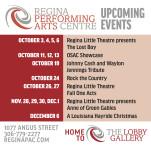 REGINA PERFORMING ARTS CENTRE  UPCOMING EVENTS