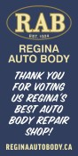 THANK YOU FOR VOTING Regina Auto Body REGINA'S BEST AUTO BODY REPAIR SHOP!