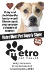 Ruby and the Metro Pet family would like to thank everyone for a decade of support.