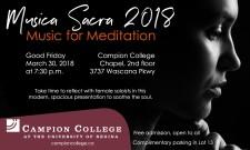 Musica Sacra 2018 Music for Meditation