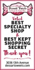 Dessart Sweets Ice Cream and Candy Store Voted BEST SPECIALTY SHOP
