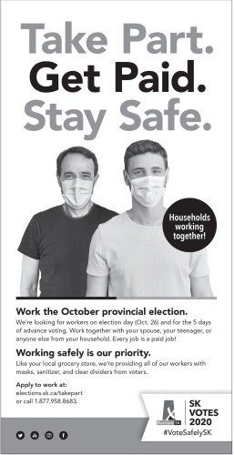 Work the October provincial election.