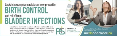 Pharmacists can now prescribe BIRTH CONTROL and relief from BLADDER INFECTIONS