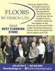 FLOORS BY DESIGN LTD.  Voted BEST FLOORING STORE.