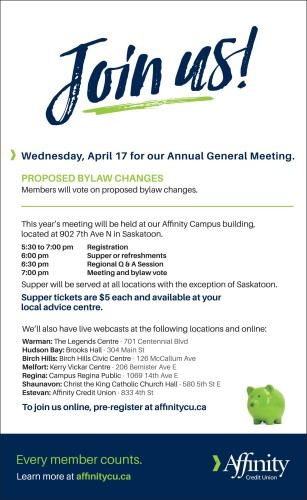 Affinity Credit Union Annual General Meeting.