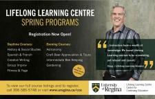 LIFELONG LEARNING CENTRE SPRING PROGRAMS  Registration Now Open!