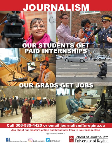 FACULTY of ARTS School of Journalism at University of Regina